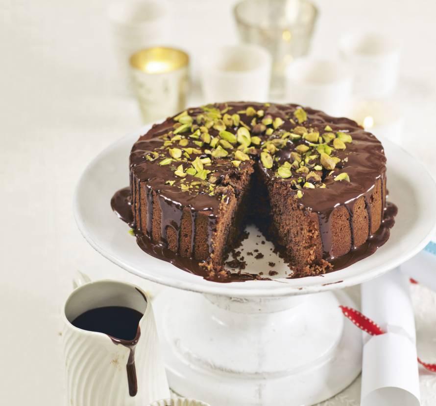 Chocolade-kardemomcake