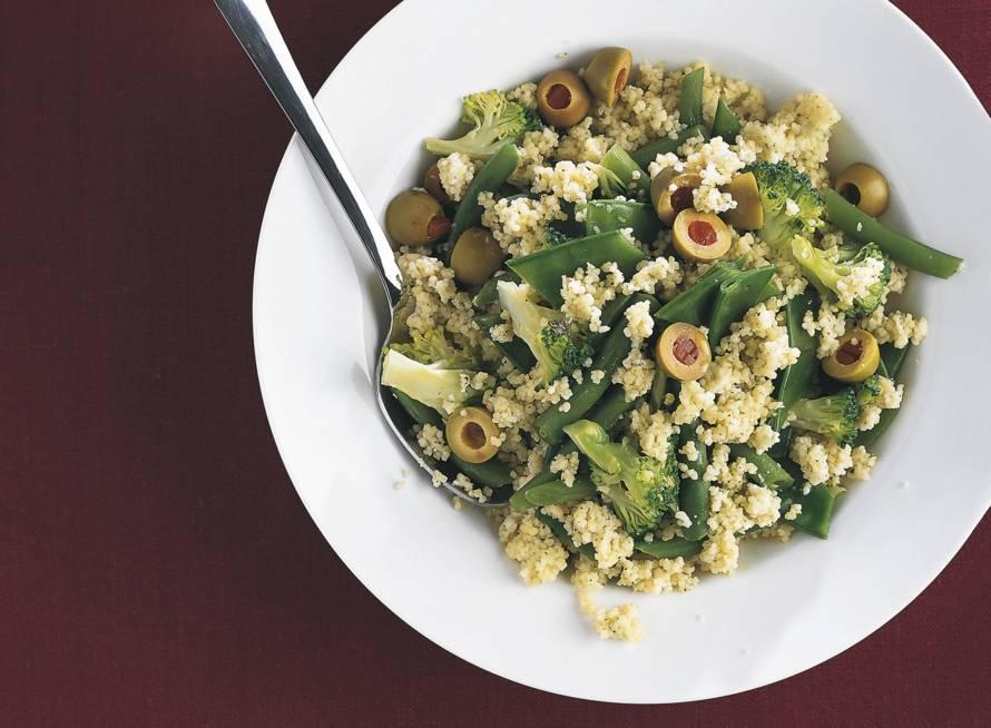 Couscous met groene groenten
