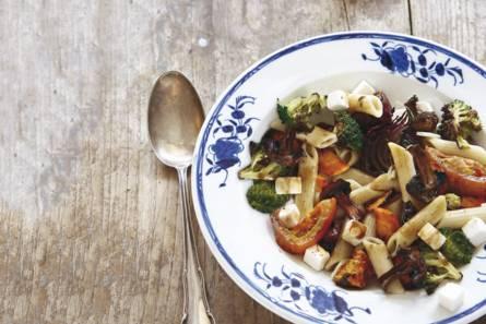 pasta met groenten uit de oven