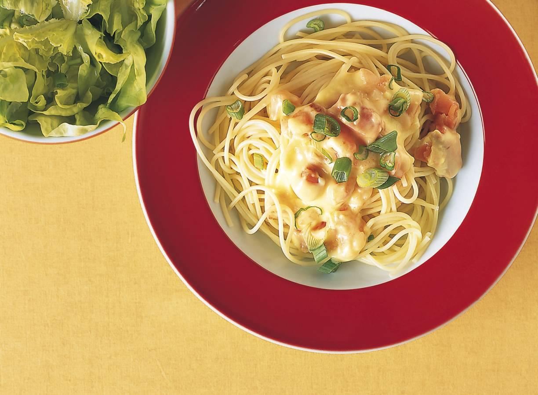 Spaghetti met frisse zalm-roomsaus