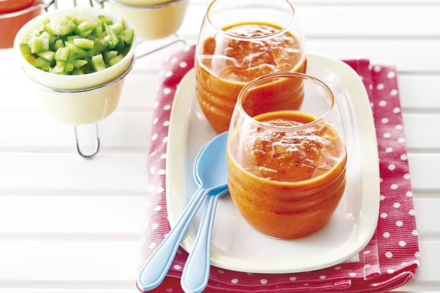 Gazpacho met gegrilde paprika