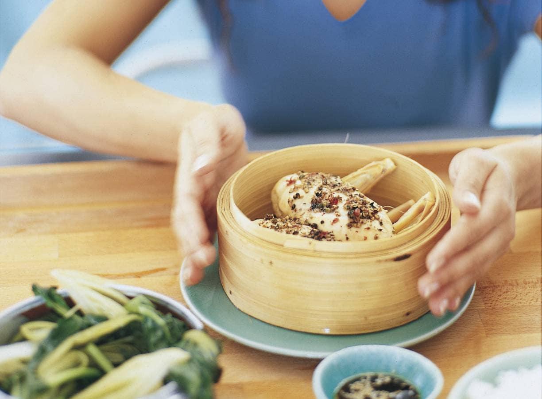 Chinese gestoomde kip met peper