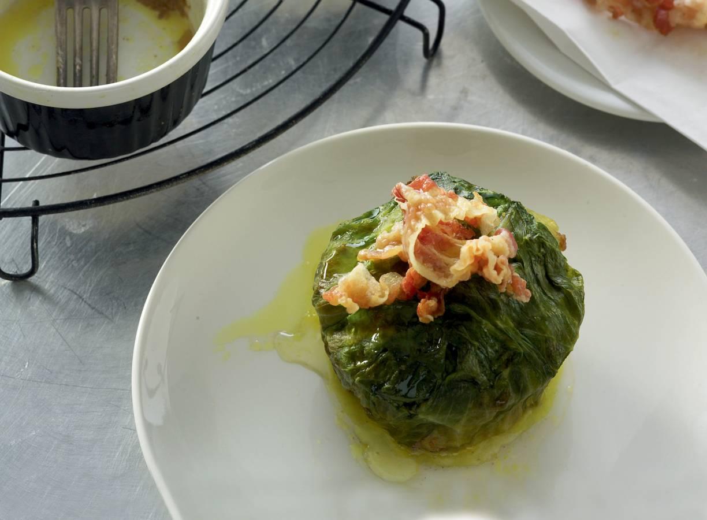 Gehakttaartjes met pancetta