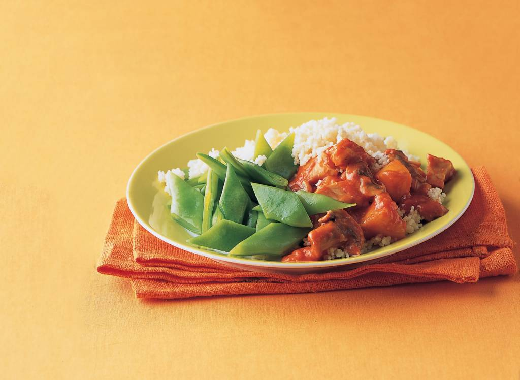 Couscous met kip, perzik en snijbonen - Albert Heijn