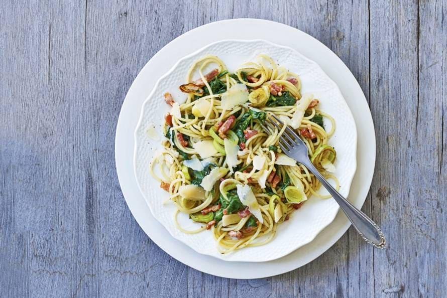 recept spinazie champignons spekjes