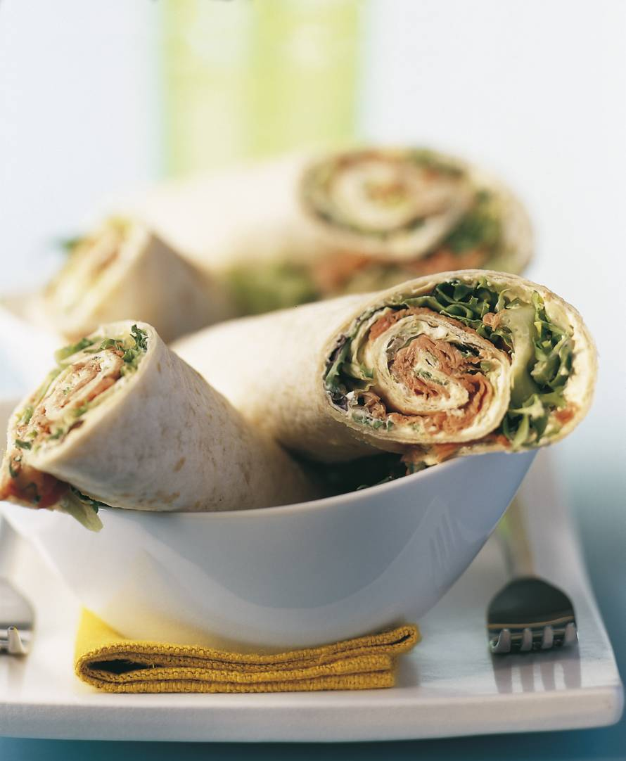 Tortillawraps met rosbief en zure room