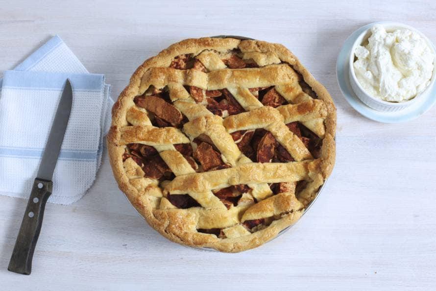 Traditionele Hollandse appeltaart