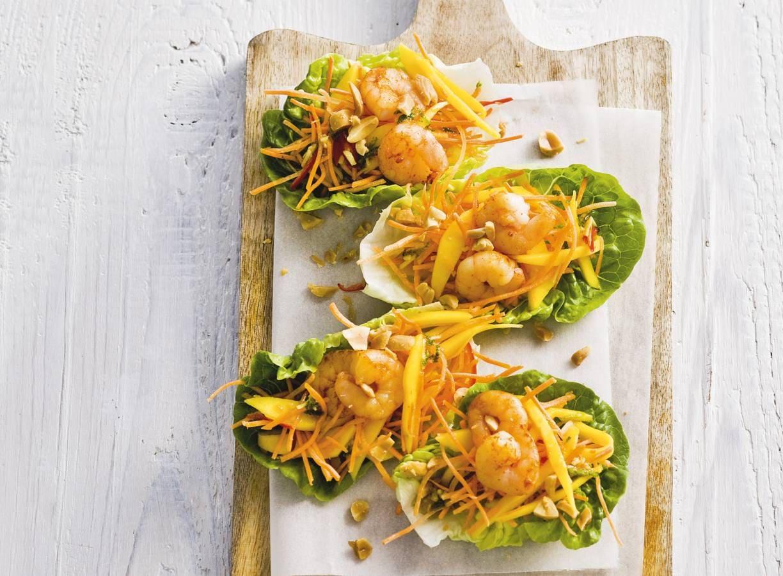 Vietnamese salade met garnalen