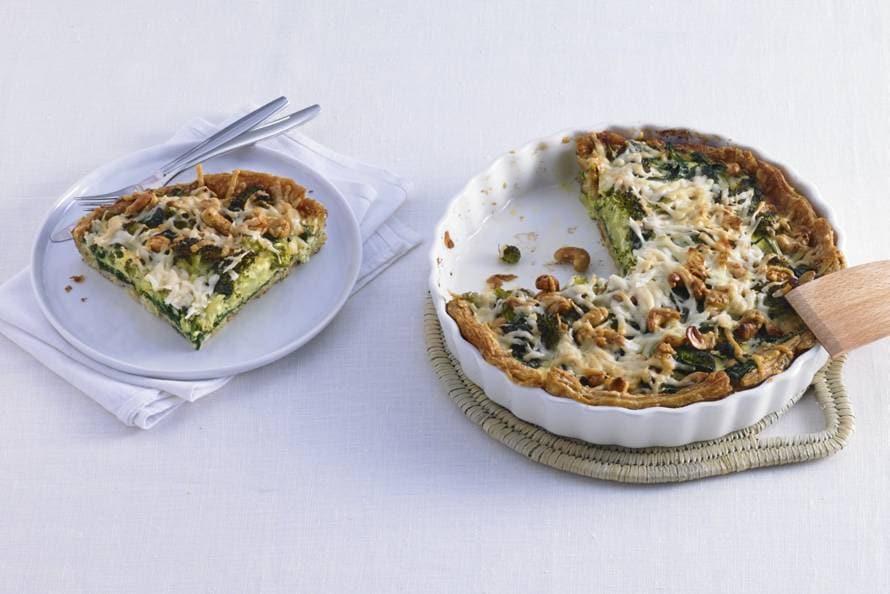 Broccoli-spinazietaart