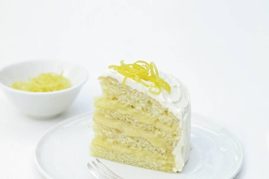 Delia Smith's geglazuurde laagjestaart met lemon curd