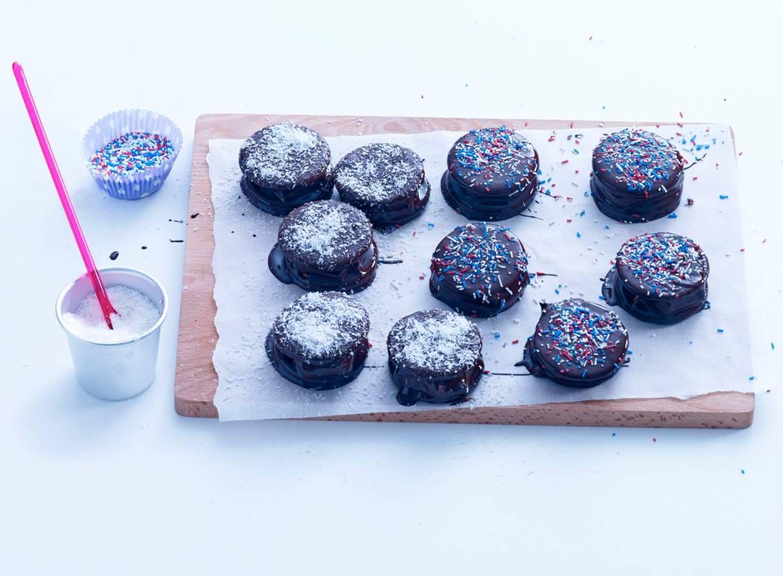 Marshmallowkoekjes met chocolade en hagelpret