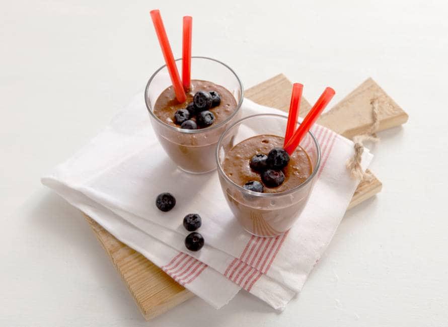 Smoothie met rauwe cacao