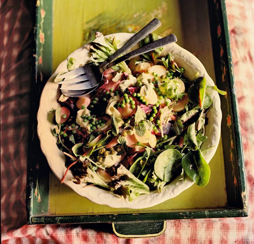 Aardappelsalade met doperwten