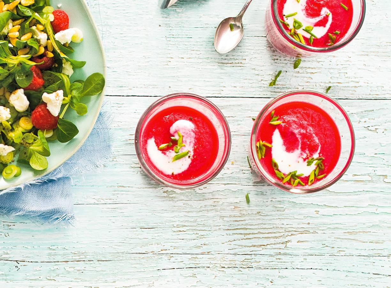 Bietengazpacho met yoghurt