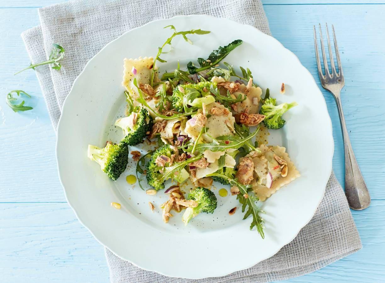 Raviolisalade met tonijn