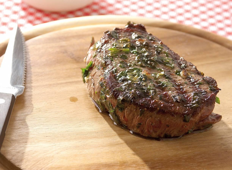 Biefstuk met kruidenolie