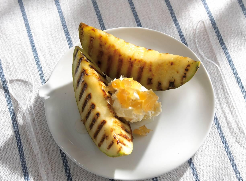 Meloen met gembermascarpone