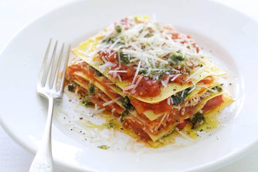 open lasagne recept