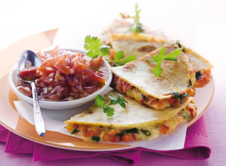 Quesadilla's met tomatensalsa