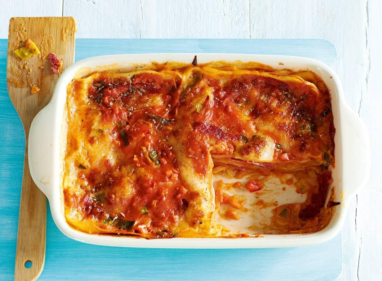Lasagne met salami & mozzarella