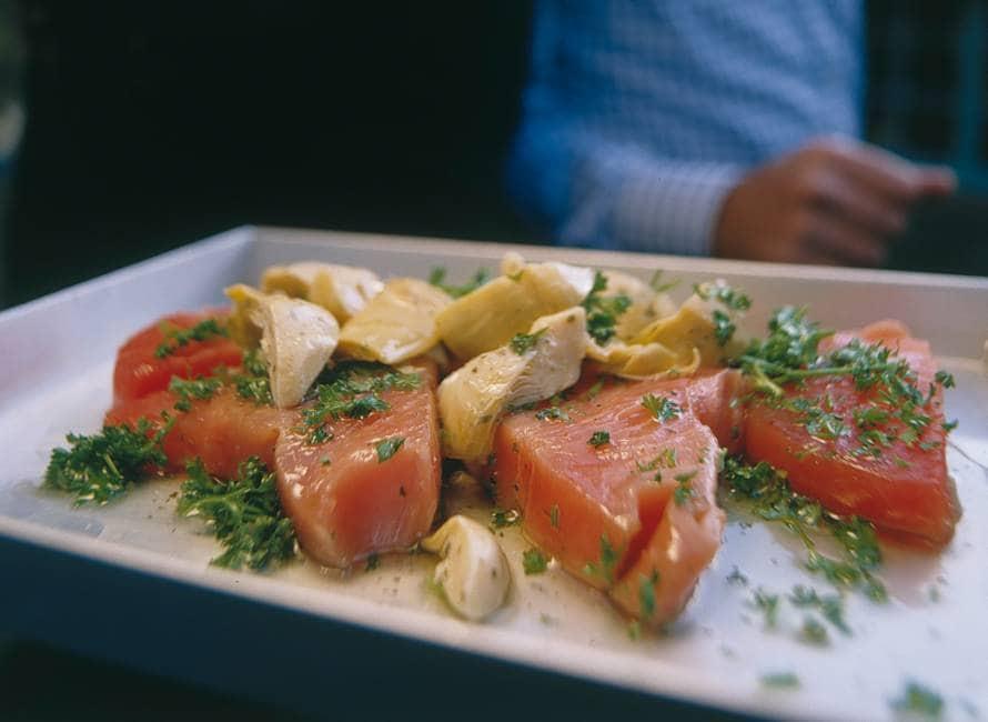 Panini met tonijn en gemarineerde artisjokken