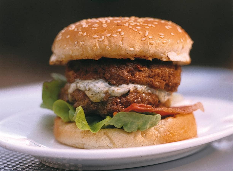 Blauwe kaasburgers