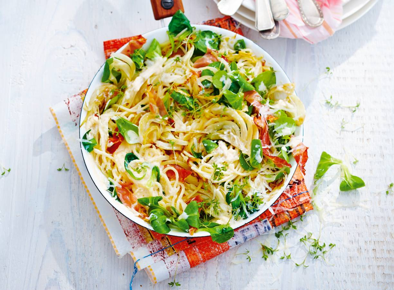 Spaghetti met rauwe ham & ricotta