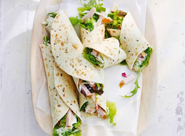 Wraps met kip en coleslaw