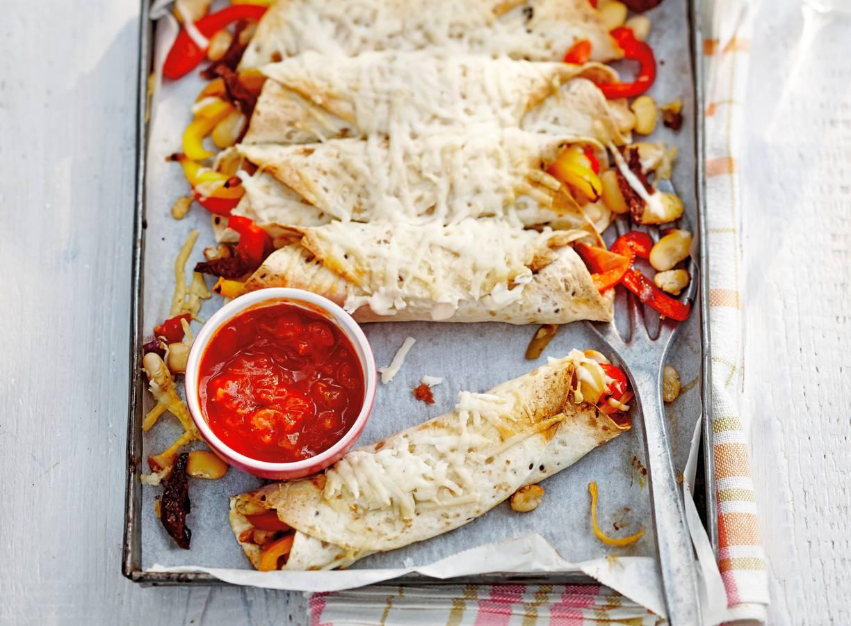 Enchilada's met zomerse chili con carne