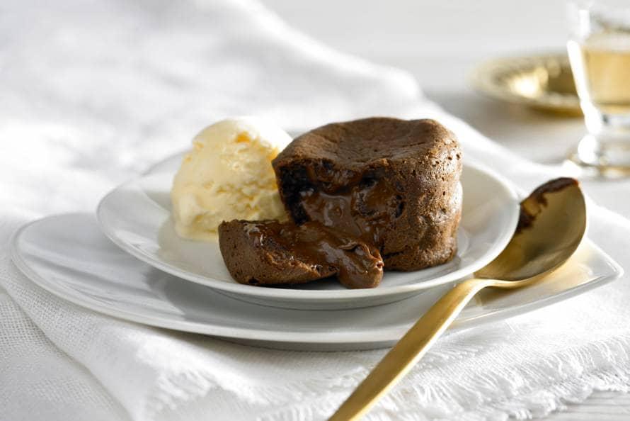Warme chocoladesoufflés