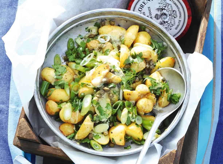 Aardappelsalade met vinaigrette