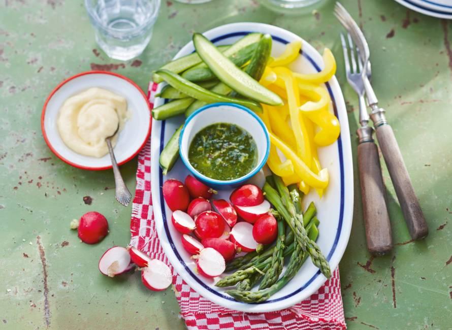 Groenten met pistou en aioli