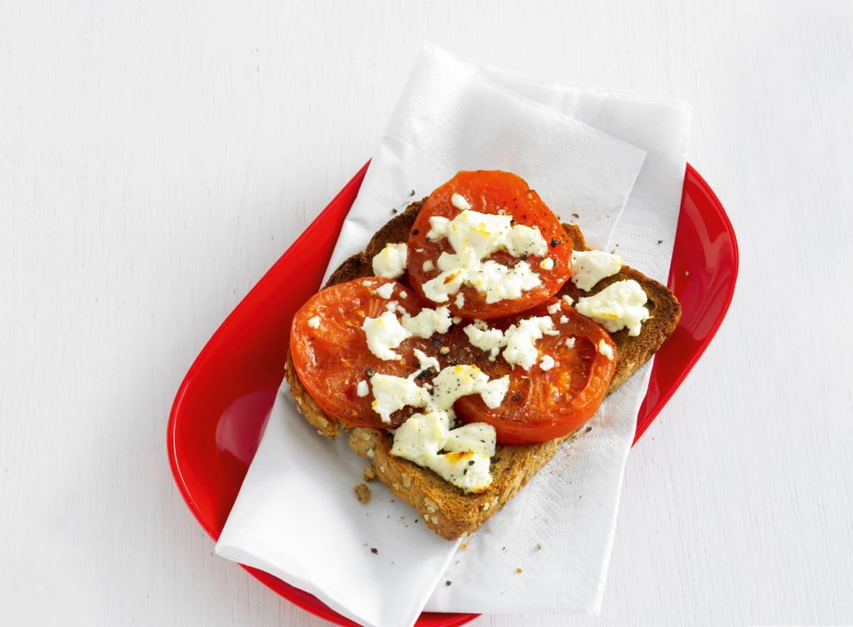 Bruschetta met gegrilde tomaat