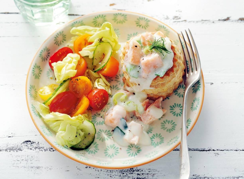 Prei-visragout met salade
