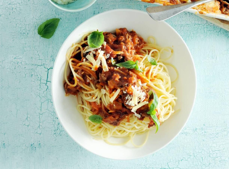 Spaghetti bolognese met rijkgevulde saus