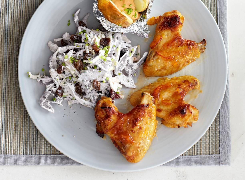 Pittige wings met coleslaw
