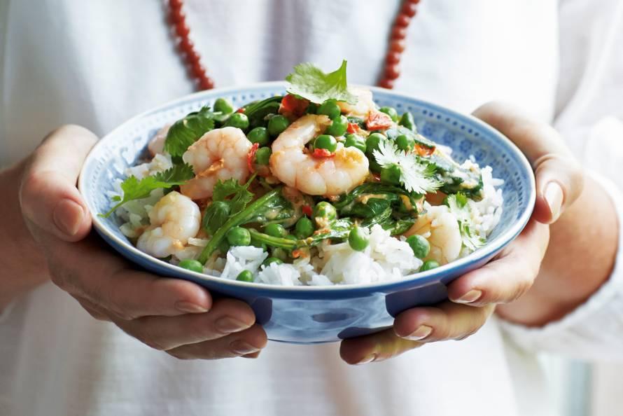 recept spinazie met garnalen