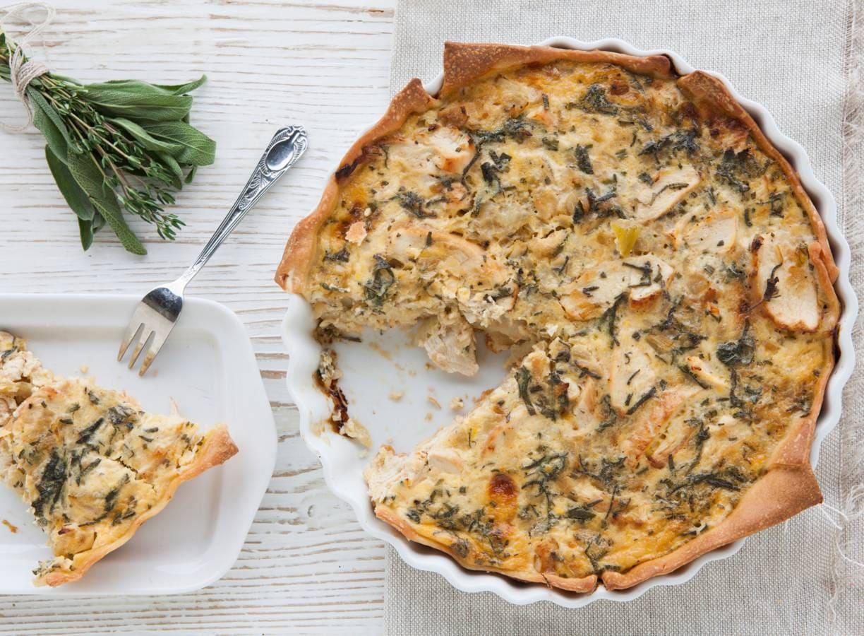 Italiaanse taart met kip