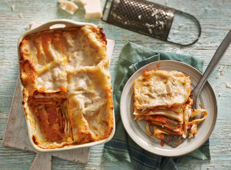 Lasagne met courgette en geitenkaas