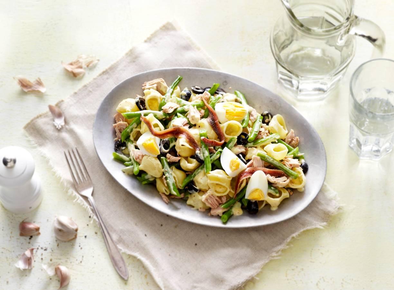 Pastasalade met tonijn & mosterd-mayodressing