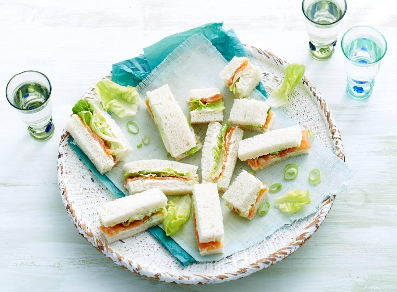 Zalm-sandwichrepen