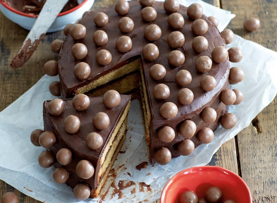 Koffie-chocoladetaart met Maltesers