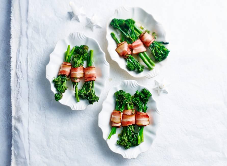 Aspergebroccoli met spek en tijm