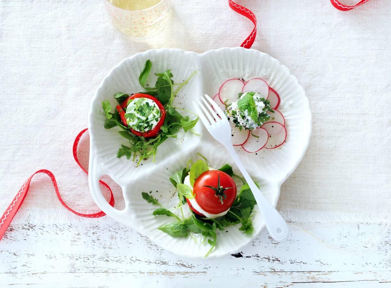 3 variaties op salade caprese