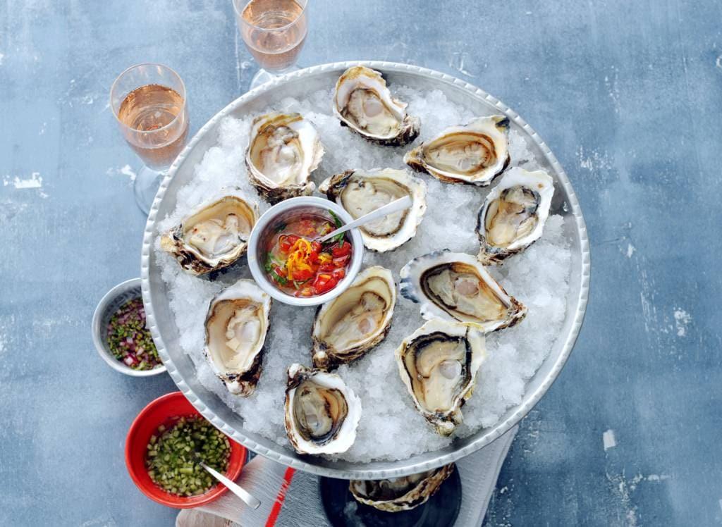 Hapjes met oesters