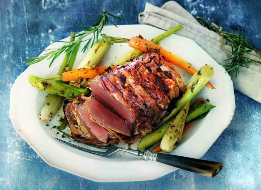 Rosbief met groenten uit de oven