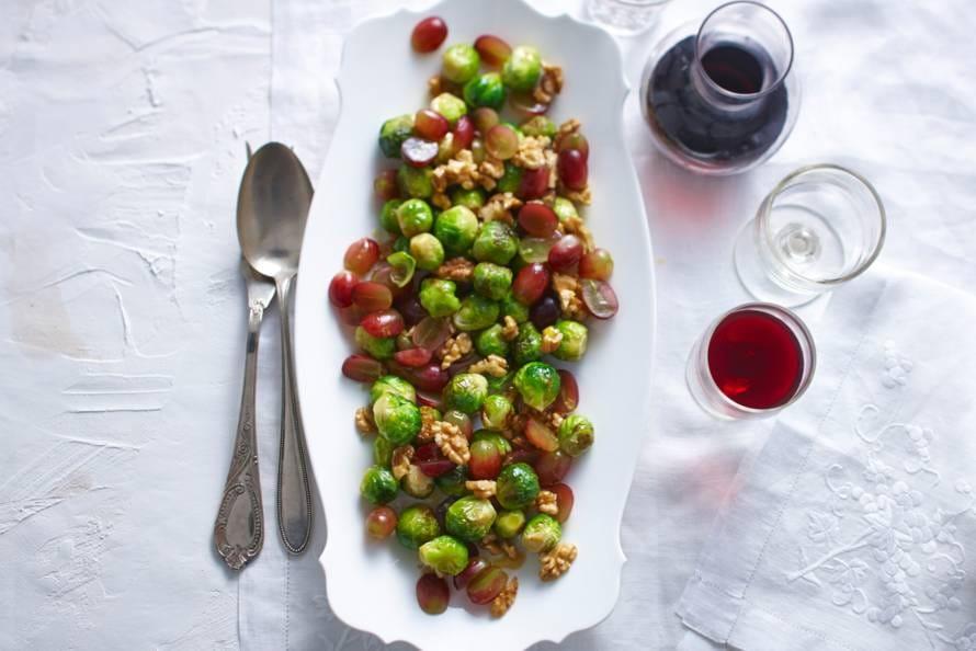 Spruiten met druiven