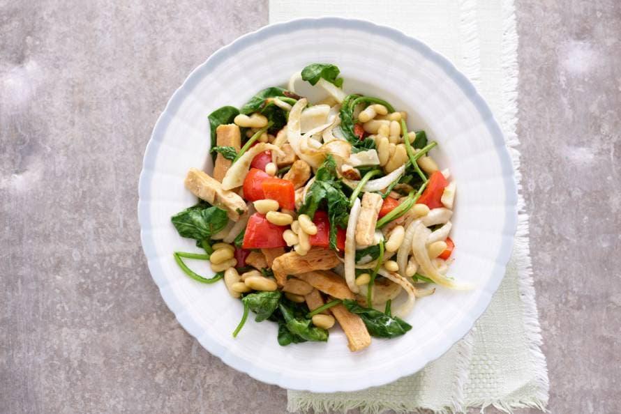 groentewokstukjes met spinazie en venkel - recept - allerhande