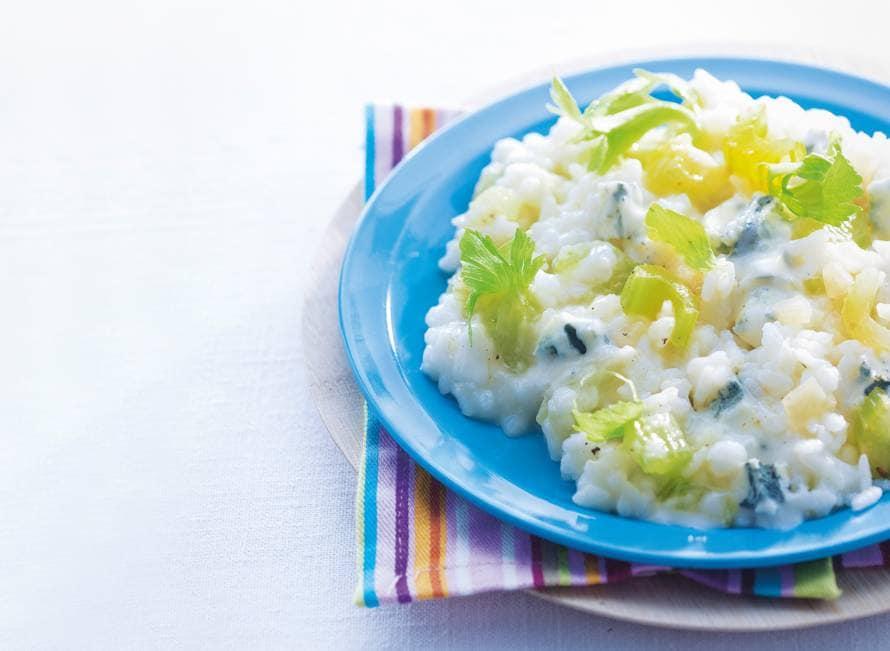 Selderijrisotto met gorgonzola