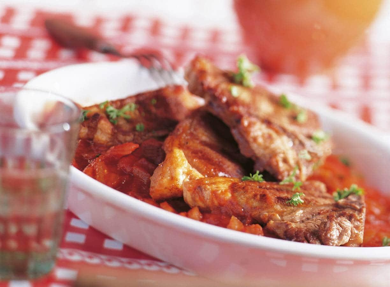 Lamskoteletjes met Baskische saus